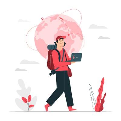 Nómada digital viajando lento, sin prisas.